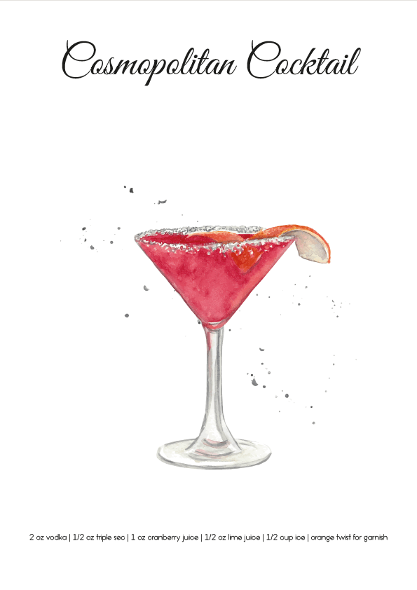 Cosmopolitan Cocktail SKU 0049